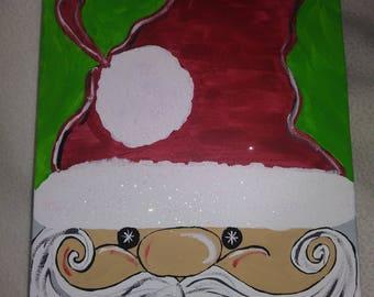 Sparkling Santa Canvas