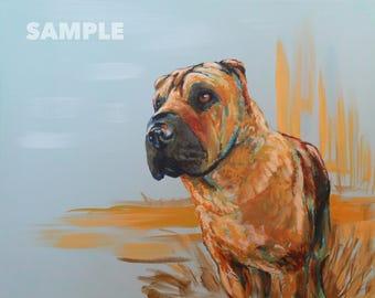 Custom Pet Portrait Painting - 20x16