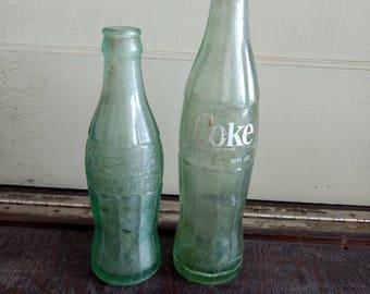 Vintage coke bottles