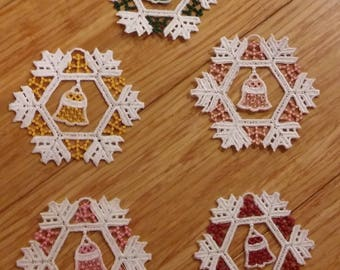 Snowflake Ornament with a Bell Inside