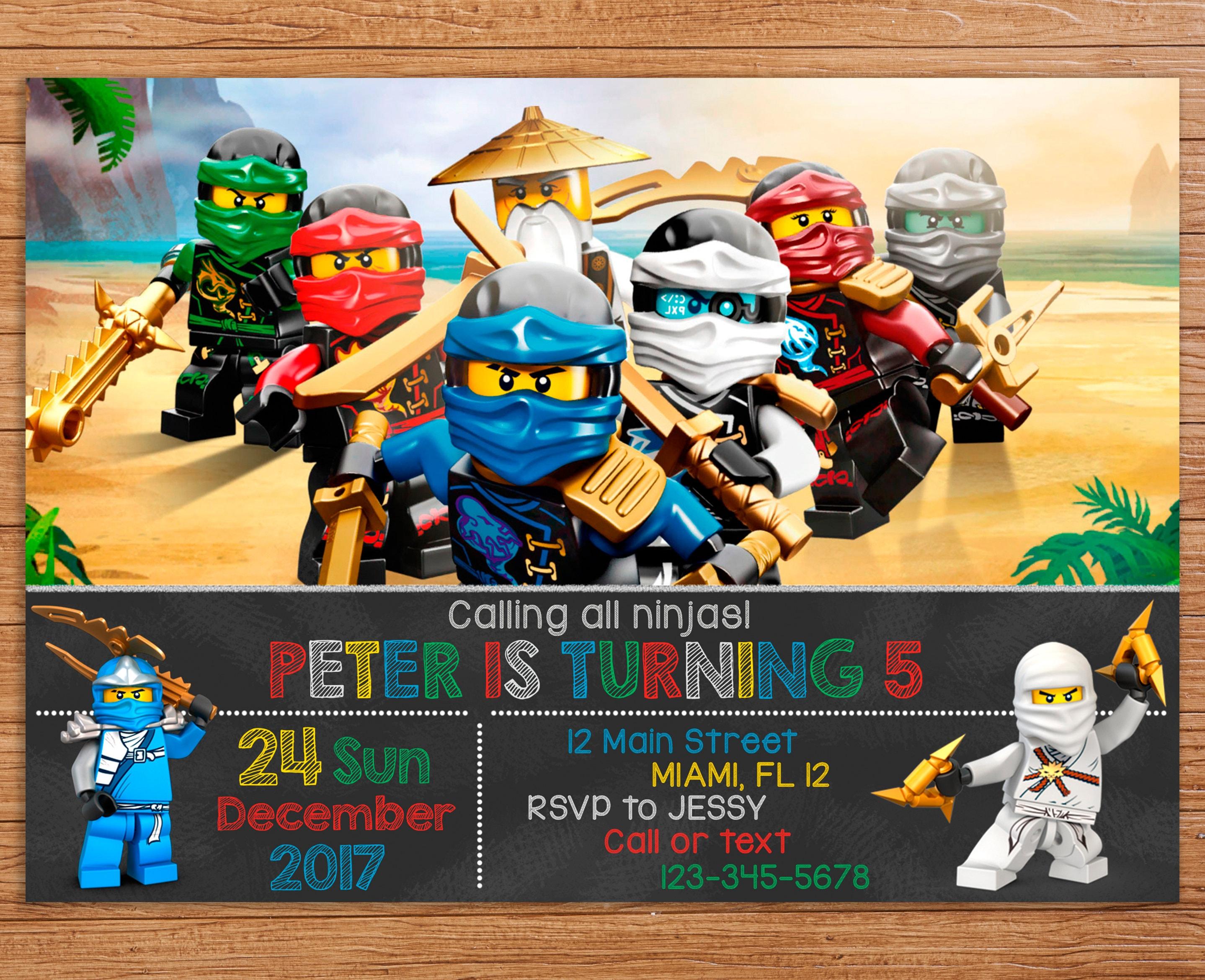 Amazing lego ninjago party invitations vignette invitation card lego ninjago invitation lego ninjago birthday lego ninjago stopboris Gallery
