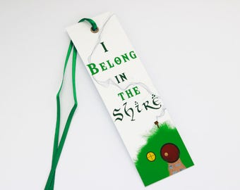 The Shire Bookmark, Lord of the Rings Bookmark, The Hobbit, Middle-Earth, JRR Tolkien
