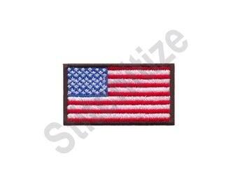 American Flag - Machine Embroidery Design