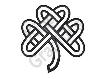 Celtic Knot Clover - Machine Embroidery Design