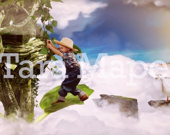 Jack and the Beanstalk Digital Background