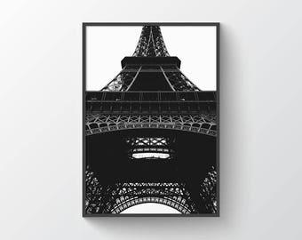 Eiffel Tower - Digital Print - Printabl Art - Architecture - Minimal - Minimalist - Paris - France - Europe - Monument - Modern - Wall Art