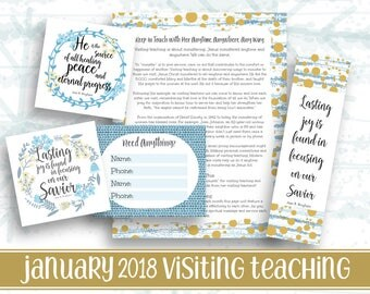January 2018 Visiting Teaching kit | Relief society Message Digital Printable LDS VT