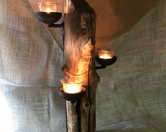 Rustic Drift Wood Candleabra