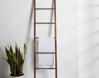 6 Foot Rustic Blanket Ladder, Towel Ladder, Decorative Ladder, Textile Ladder, Wood Ladder, Wood Blanket Ladder, Wood Towel Ladder