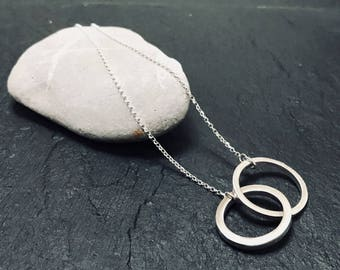 Solid Sterling Silver Links Necklace