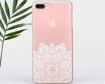 Mandala iPhone 6 Case iPhone 8 Plus Case Clear Mandala iPhone X Case iPhone 7 Plus Case iPhone 7 Case iPhone 6 Case Galaxy S8 Case PC011