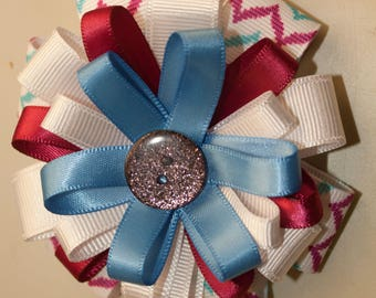 Stacked Hair Bow, Infants Toddlers Girls Hair Bows, Alligator Clip