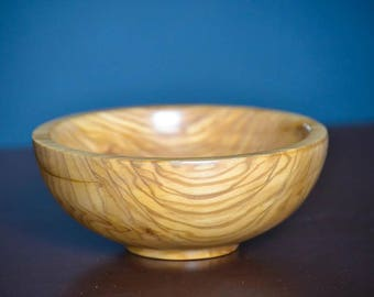 Handcrafted Olive Wood Bowl Dish Carved Wooden Eco Friendly Healthy