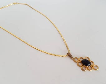 Gold Necklace Statement Necklace 1920s Necklace 1930S Gold Chain Necklace Pendant Necklace Art Deco Necklace Black Necklace Gatsby Necklace