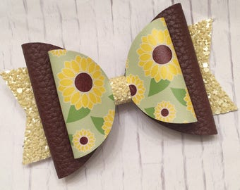 Sunflowers,Flowers, Sunflower, Glitter Bow