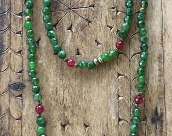 Necklace Natural Green Stones 2