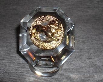 Leo - miniature collectible crystal figurine