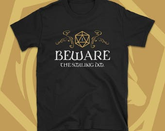 Beware the Smiling DM Dungeon Master - Dungeons and Dragons Inspired  T-Shirt - Dnd Tee - D&D Nerdy Gift Idea