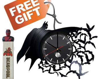 Batman Gift Vinyl Record Wall Clock