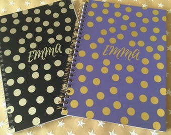 Dotty Foiled & Personalised A5 Notebook