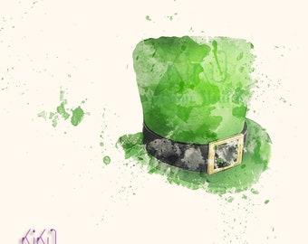 Saint Patrick's Day, watercolor art,  Printable Wall Art, Irish Print