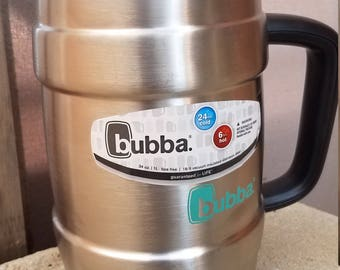 Etched Stainless Steel Keg Tumbler (34oz)