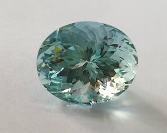 Natural loose Gemstones Santa Maria Aquamarine cut stones 12.10 Cts Size oval Shape  Size 16 x 13 x 10mm