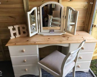SOLD......Dressing Table with Mirror and Chair