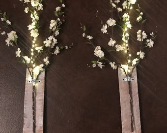 Fake cherry blossom decor