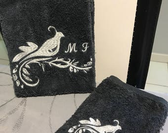 Towels, toilet or customizable gloves