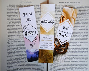Bibliophile Bookmarks (Set of 3)