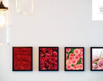 Mock-up - Multiple 4 Frame MockUp - Wall - Realistic Digital Download - Print Photography Mockup