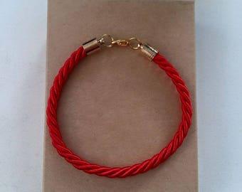 Handmade red string (Kabbalah bracelet)
