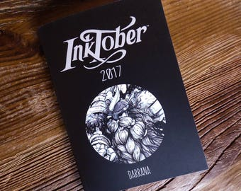 Inktober 2017 - A6 art book (zine/journal) limited edition