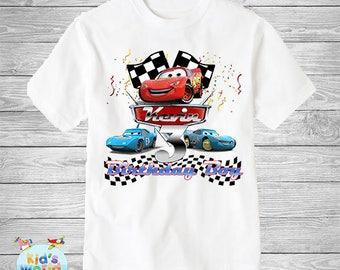 Cars birthday shirt,Custom shirt ,personalized Cars custom Shirt, family shirt,birthday shirt,kids custom birthday shirt d21