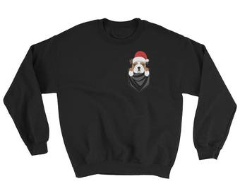 Funny English Bulldog Dog Pocket Ugly Christmas Sweater