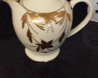 Sadler 1225 gold gilded bouquet teapot