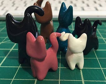 Polymer Clay Figurines: Cats!