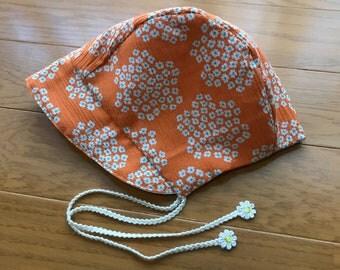 Reversible baby bonnet , reversible baby hat
