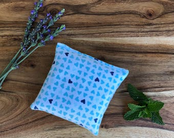 Microwavable Bean Bag - Valentines Day Gift for Kids - Microwave Pad - Peppermint Hot Pack - Flax Seed Bag - Hot Pack - Cold Pack - Hearts