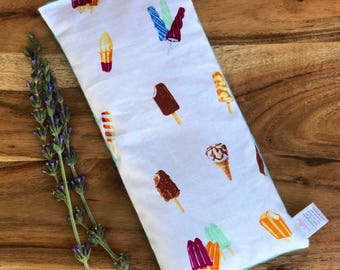 Easter Present - Gift for Child - Microwave Bean Bag - Boo Boo Bag - Bean Bag Heating Pad - Sensory Toy - Flax Seed Heat Pad - Ice Cream
