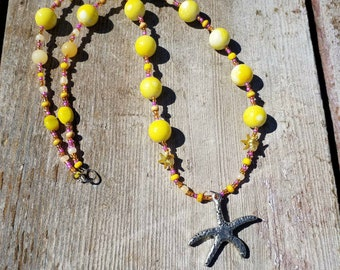 Yellow Starfish Necklace