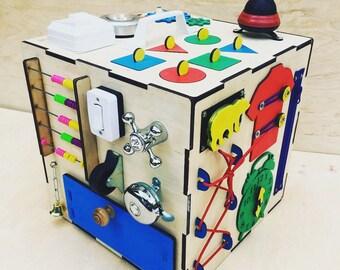 Busy cube , busy house , busy board   - sensory desks , sensory board, montessory board