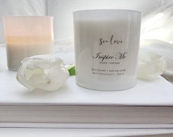 INSPIRE ME • soy candle, spa candle, hand poured soy candle, vegan soy candle, natural candle, Sea Love Candle