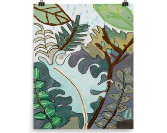 Leaves and Ferns - Beautiful Archival Cotton Rag Fine Art Giclée Print Supporting the Nonprofit Fresh Artists