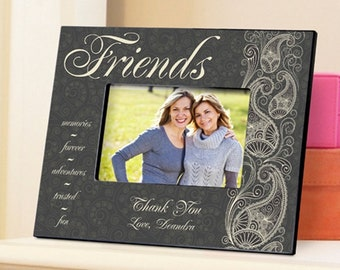 Personalized Friends Pretty Paisley Picture Frame - Personalized Friend Photo Frames - Friends Picture Frames - Personalized Friend Gifts