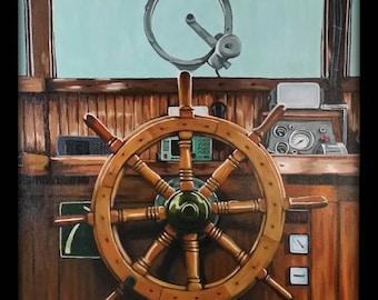 Wooden steering wheel