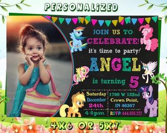 My Little Pony, My Little Pony  Girls,My Little Pony Birthday, My Little Pony Party, My Little Pony Card,My Little Pony Invitation