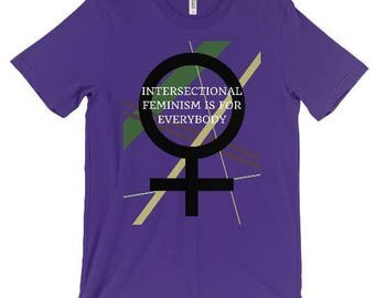 Intersectional Feminism Is For Everybody T-Shirt - Feminist Shirt- Royal Purple