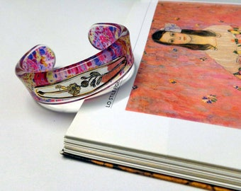 Bracelet years 80 with flowers